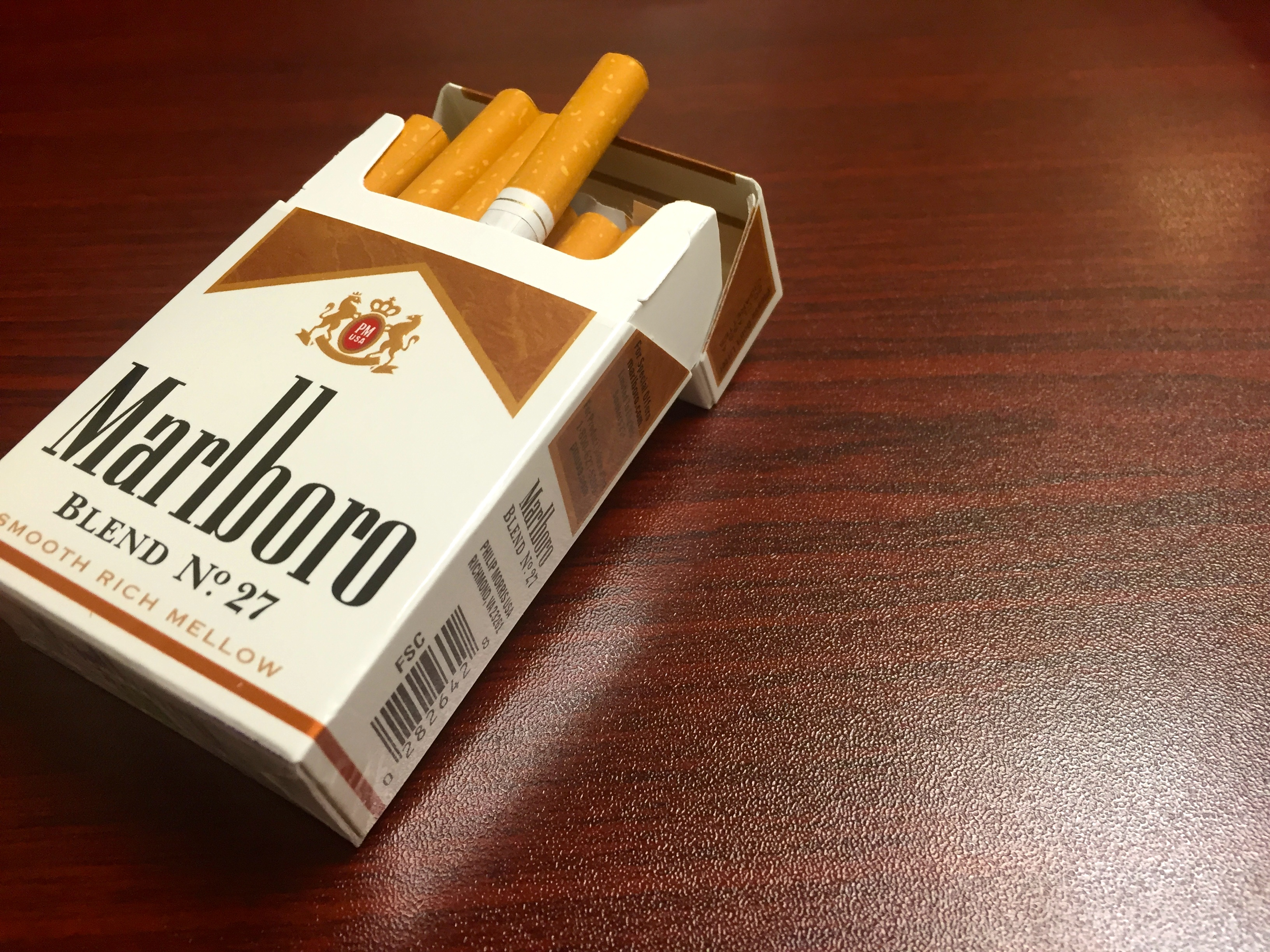 pack of cigarettes Marlboro lights