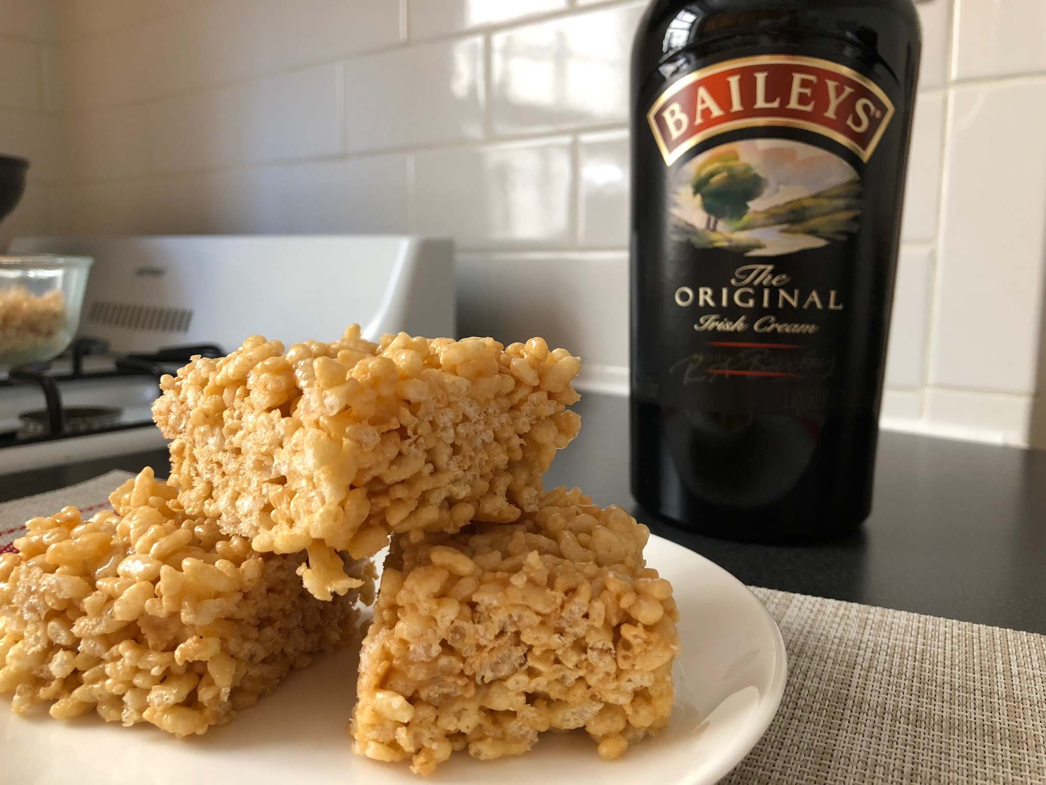 caramel baileys rice krispie krispies treats